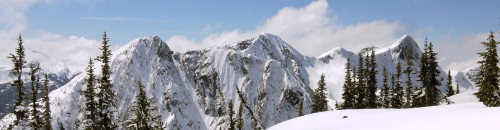 Ski Touring Along Zoa Ridge